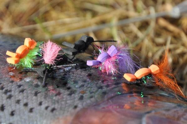 skumfluer i put and take søen Jesper L. Andersen go fishing