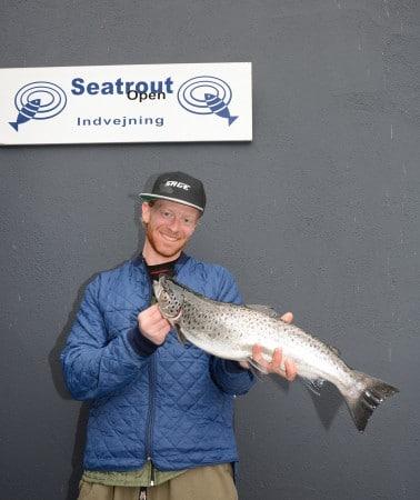 Morten Jensen Havørred 2,00 kg. og 56,5 cm. Fanget på Flue