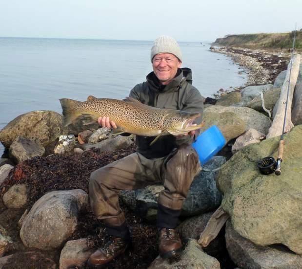 go fishing STO Bård Thoresen Roskilde Havørred 76 cm 5,1 kg Flue på Weddelsborg