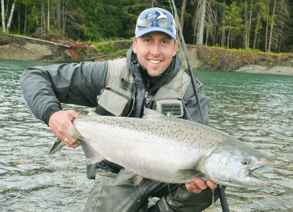 fiskerejse kongelaks chinook salmon jesper lindquist andersen flyfishing