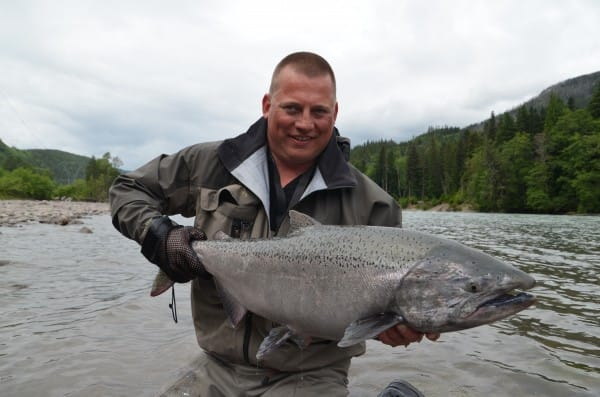 big chinook Copper river b.c. canada flyfishing