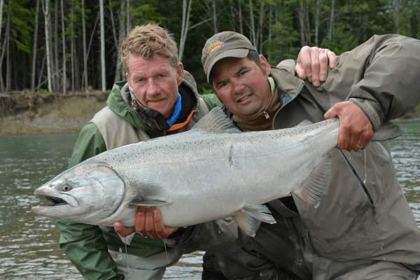 chinook kongelaks fiskerejse british columbia