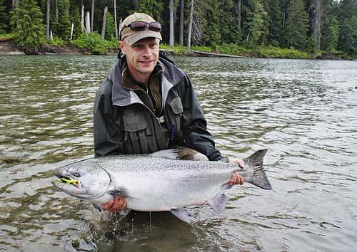 flot king crome chinook Kitimat river B.C.